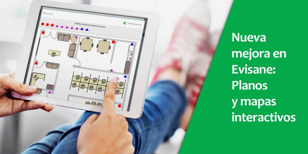 Planos y mapas con puntos de control en software para empresas de control de plagas y sanidad ambiental